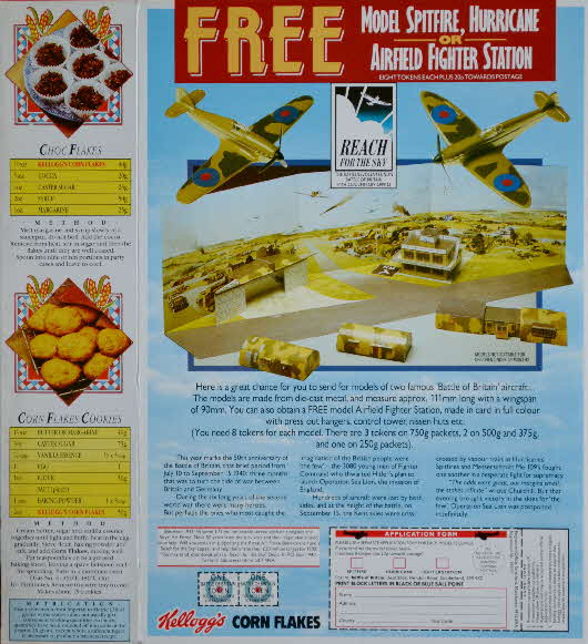 1993 Cornflakes Battle of Britain collection airfield & planes