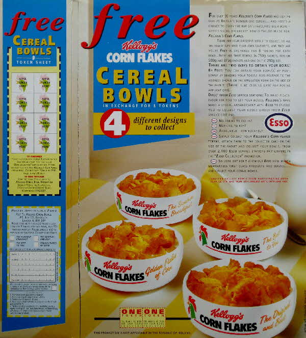 1991 Cornflakes Cereal Bowls