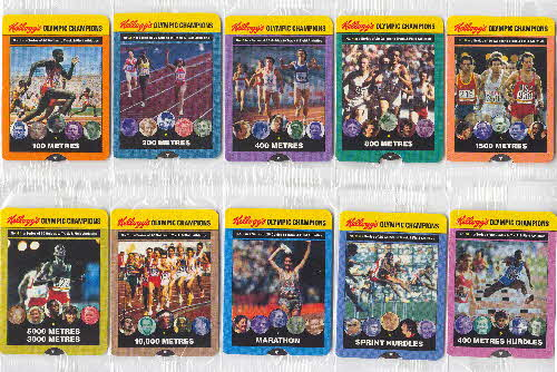 1992 Cornflakes Olympic Champion Fact cards 1