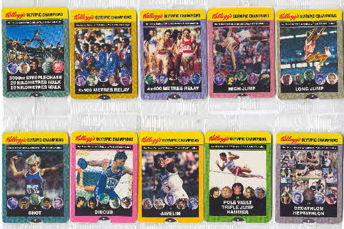 1992 Cornflakes Olympic Champion Fact cards 2