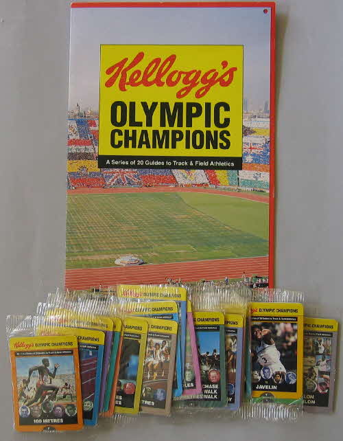 1992 Cornflakes Olympic Champion Fact cards folder