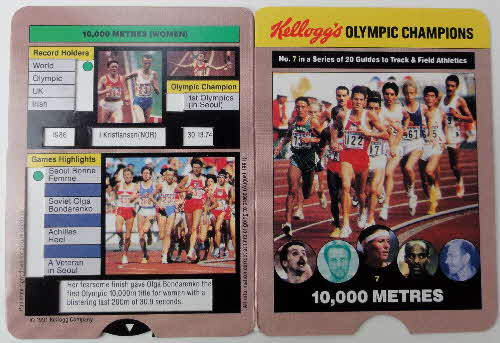 1992 Cornflakes Olympic Champion Fact cards loose (1)