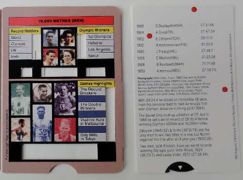 1992 Cornflakes Olympic Champion Fact cards loose (3)