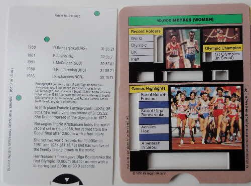1992 Cornflakes Olympic Champion Fact cards loose (4)