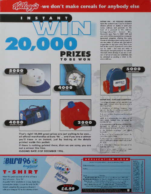 1996 Cornflakes Euro 96 Competition