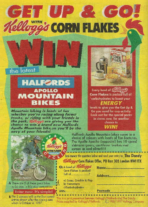1997 Cornflakes Halfords Bike Competition