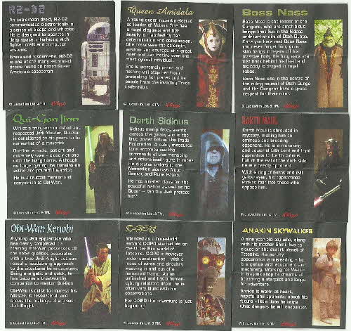1999 Coco Pops Star Wars Phantom Menace Statuettes card insert (1)