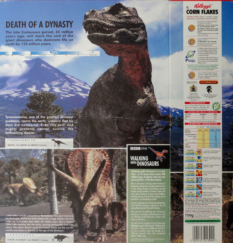 1999 Cornflakes Walking with Dinosaurs Death of a Dynasty