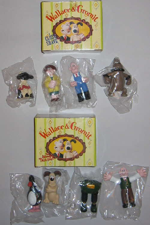 1997 Rice Krispies Wallace & Grommit figures send away