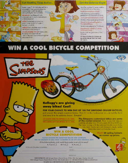 2004 Cornflakes Win Simpsons Bike