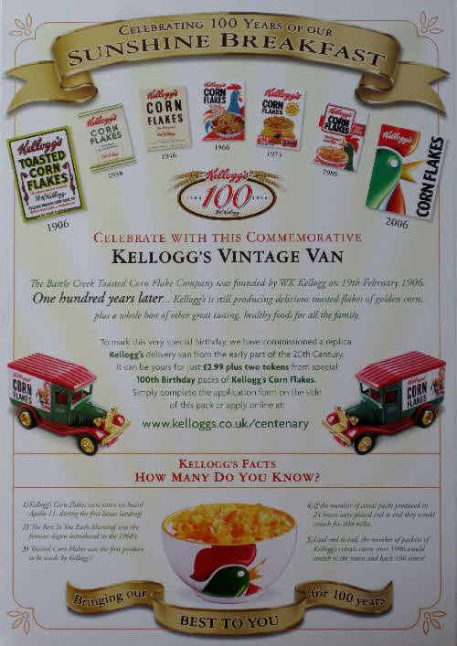 2006 Cornflakes 100th Anniversary of Breakfast - Van offer