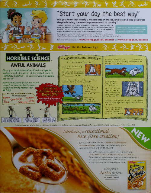 2006 Cornflakes Horrible Science Awful Animals