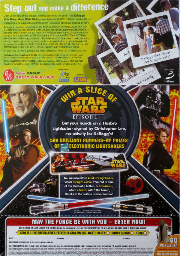 2005 Cornflakes Star Wars Light Sabre Competition