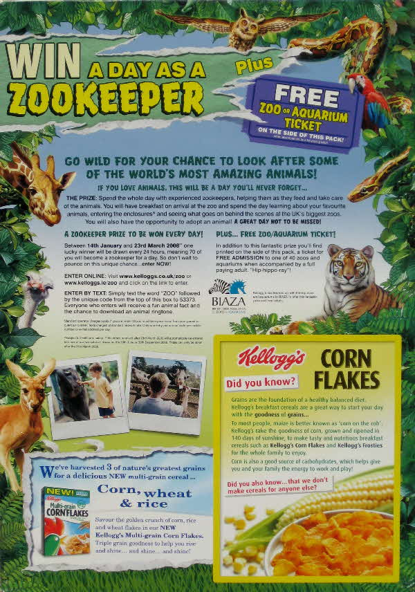 2008 Cornflakes win a day as a Zookeeper