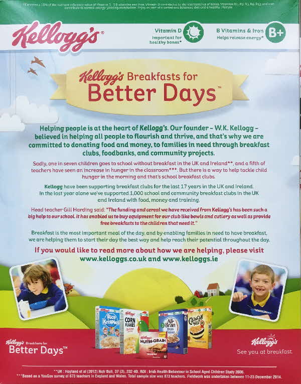 2015 Cornflakes Breakfast for Better Days