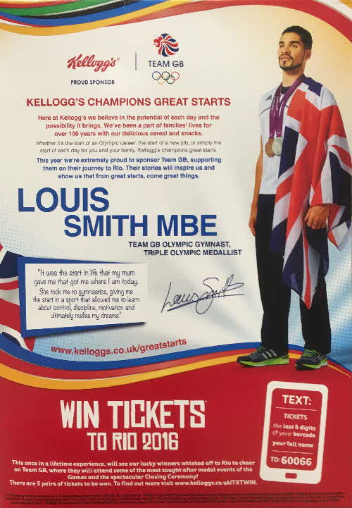 2016 Cornflakes Win Rio Olympic Tickets - Louis Smith (2)
