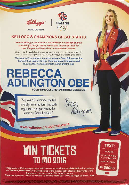 2016 Cornflakes Win Rio Olympic Tickets - Rebecca Adlington (2)