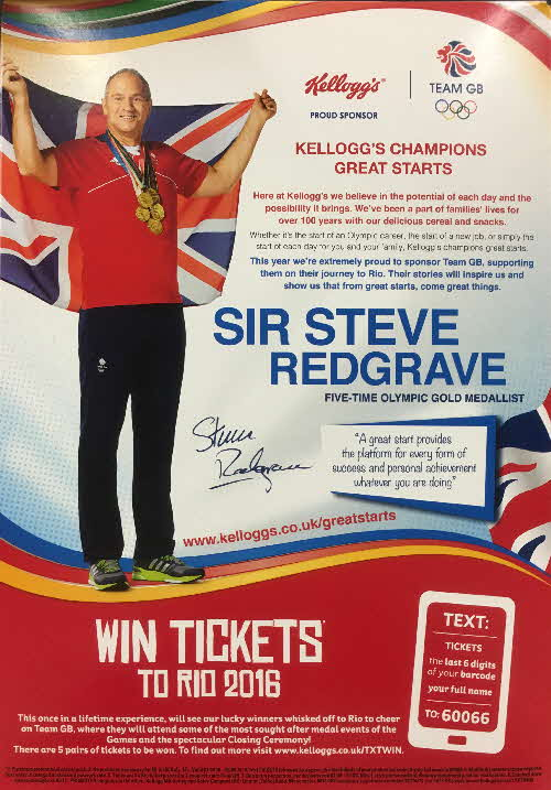 2016 Cornflakes Win Tickets Rio Olympics Steve Redgrave (2)