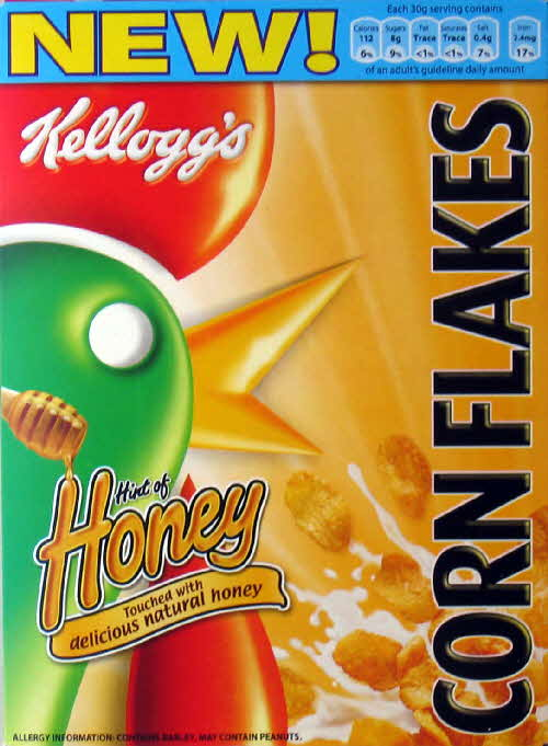 2006 Cornflakes with Hint Honey front new