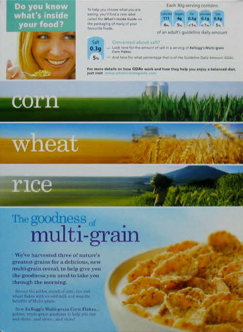 2007 Cornflakes Multigrain New back