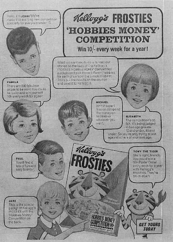 1966 Frosties Hobbies Money Competition