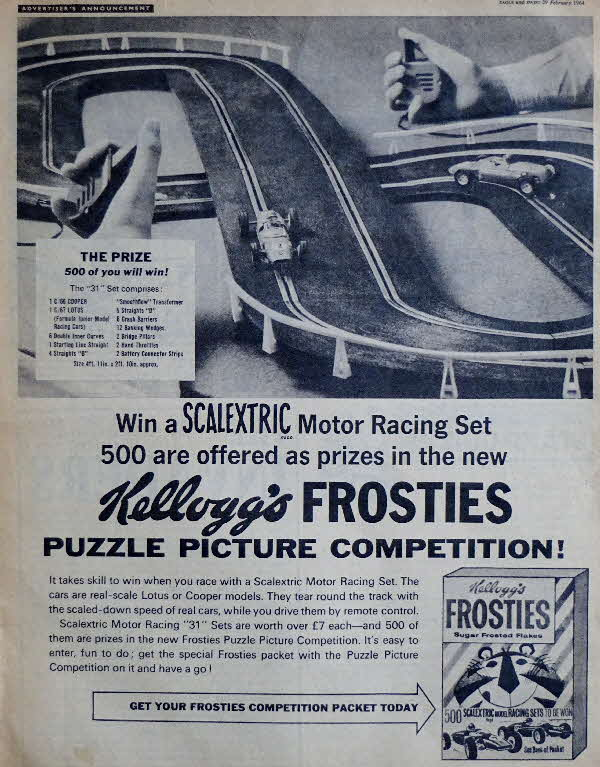 1964 Frosties Scalextric Competition