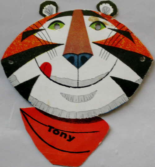 1960s Frosties Tony Tiger cut out mask