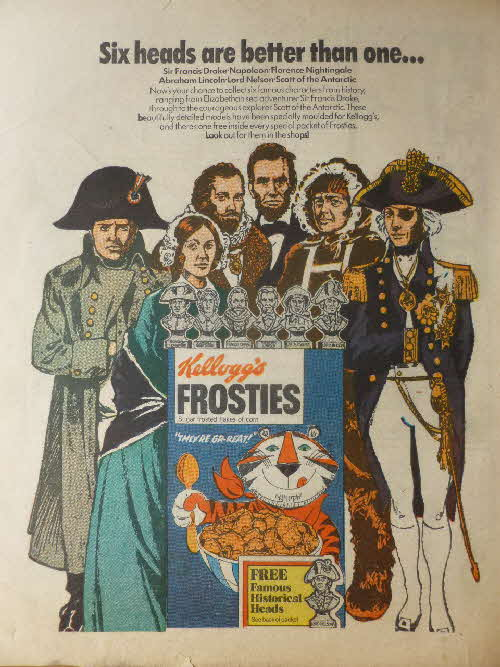 1973 Frosties Famous Heads advert1