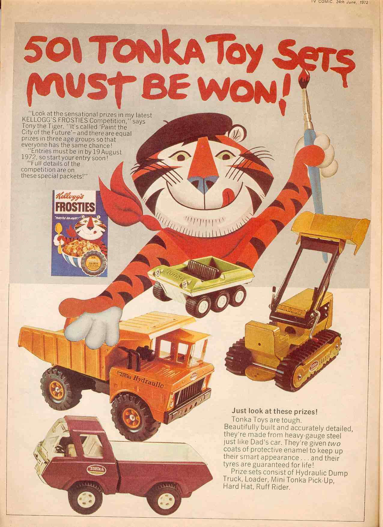 1972 Frosties Tonka Toy Competition
