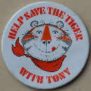 1975 Frosties Save the Tiger Poster & badge (2)1 small