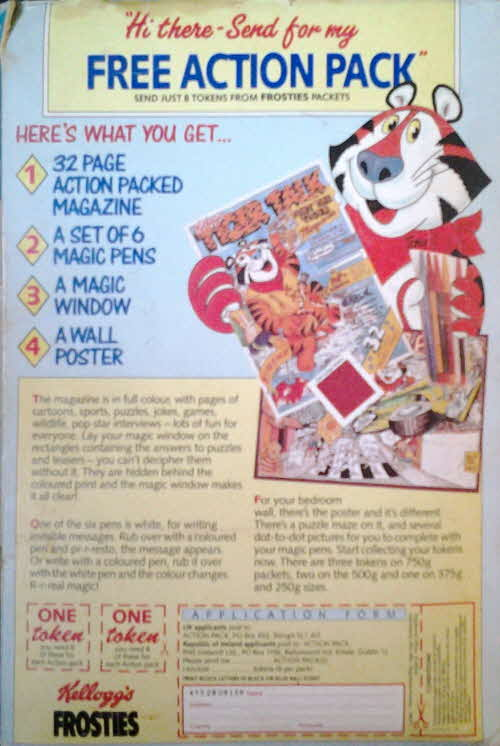 1987 Frosties Tiger Talk Magazine set (betr)