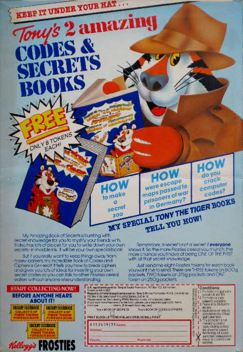 1986 Frosties Codes & Secrets Books