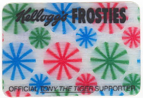 1985 Frosties Official supporters moving card