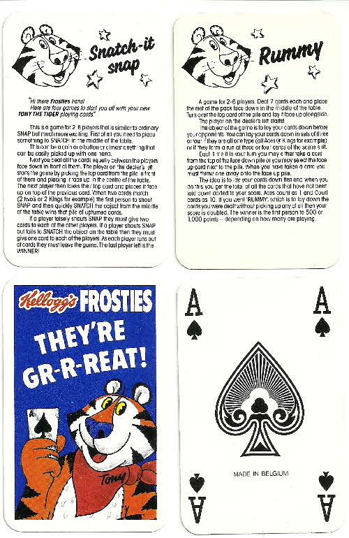 1987 Frosties Its a Pack of Fun Playing Cards  (2)