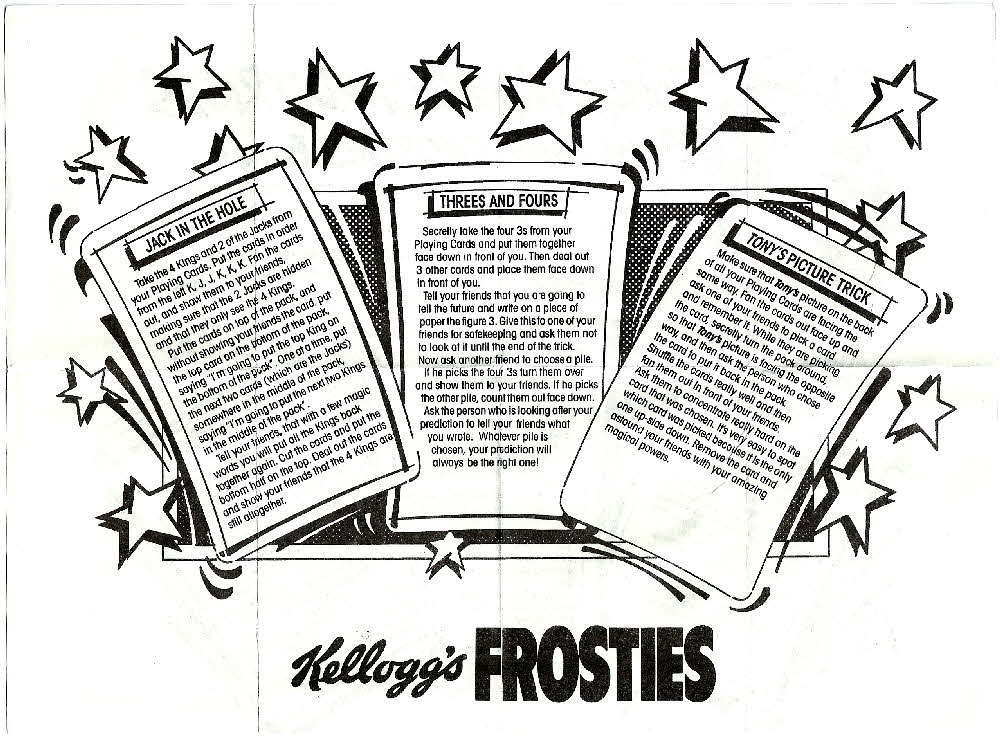 1987 Frosties Its a Pack of Fun Playing Cards instructions (1)