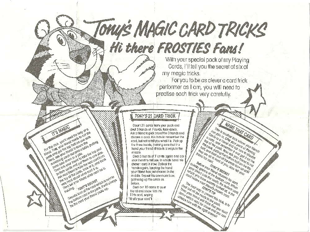 1987 Frosties Its a Pack of Fun Playing Cards instructions (2)