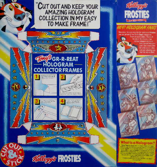 1989 Frosties Holograms back