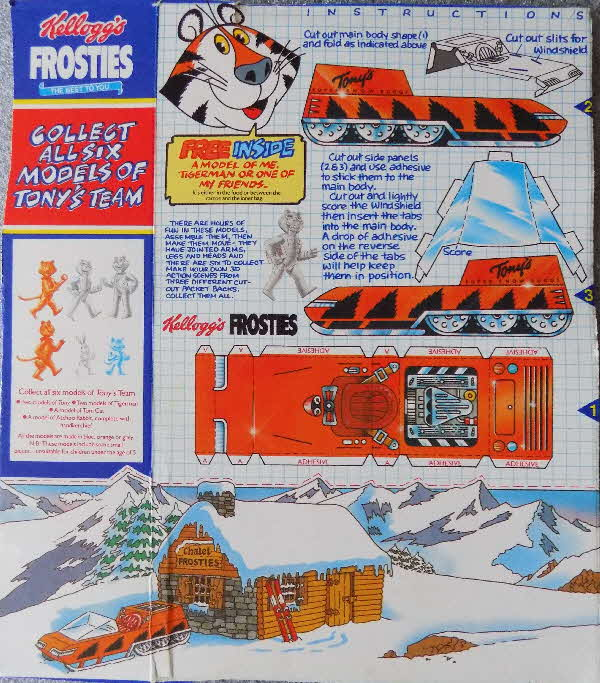 1985 Frosties Tony Models & Cut out scene 2  (1)