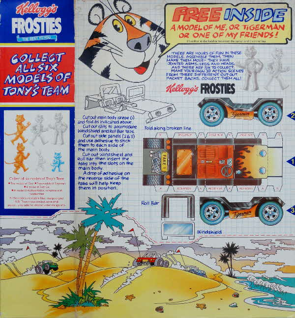1985 Frosties Tony Models & Cut out scene