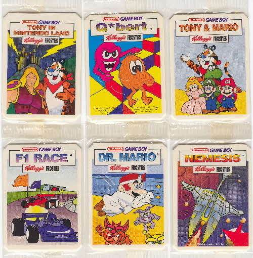 1993 Gameboy Collector Cards & Stickers issued with Kelloggs
