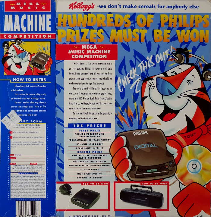 1993 Frosties Mega Music Machine Competition