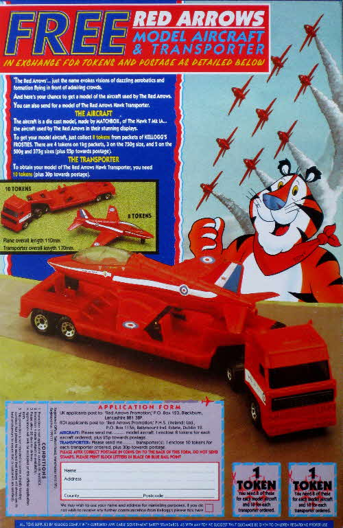 1991 Frosties Model Red Arrow & Transporter