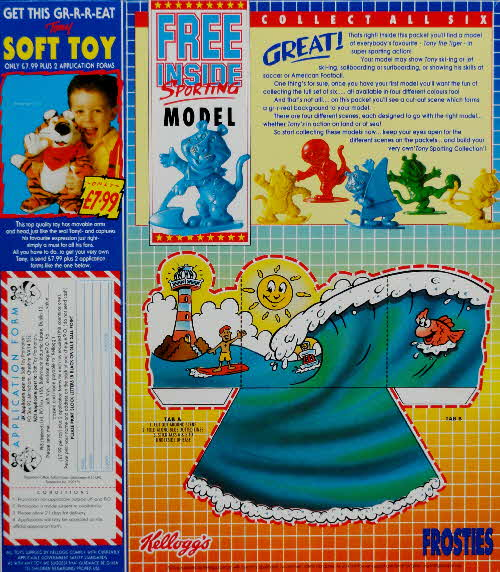 1991 Frosties Sporting Tony - Sea and Soft Toy