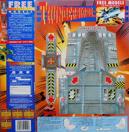1994 Frosties Thunderbirds Launch Pad & Vehicles