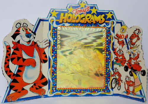 1990 Frosties Tony Tiger Holograms made