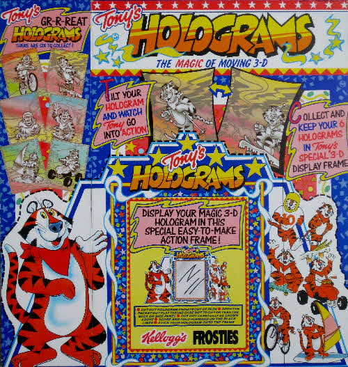 1990 Frosties Tony Tiger Holograms