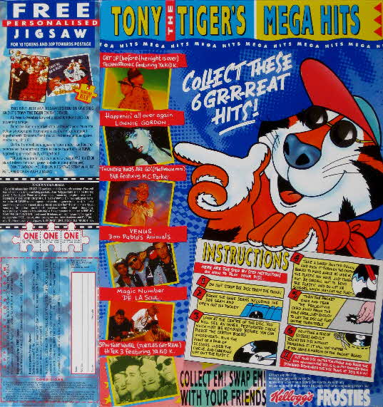 1990 Frosties Mega Hits Records & Personalised Jigsaw