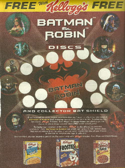 1997 Frosties Batman & Robin Discs (2)