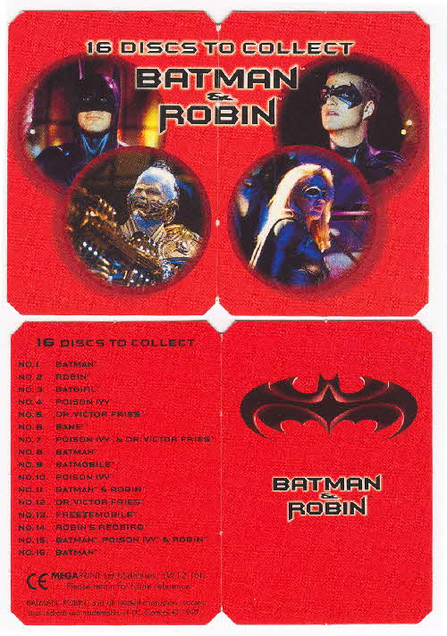 1997 Frosties Batman Discs check list