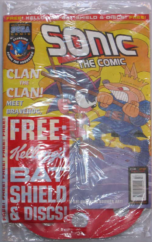 1997 Frosties Batman Discs folder free Sonic Comic